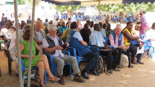la délégation pendant l'inauguration
