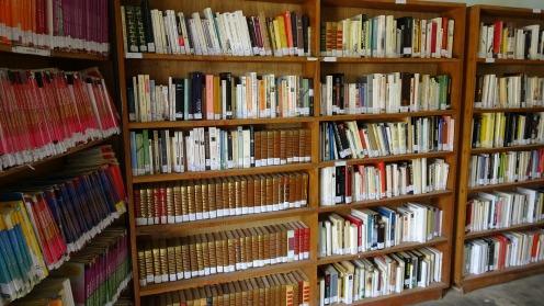 Bibliothèque créée et approvisionnée par le Lions club à l'école Saint-Jean de NIANNING